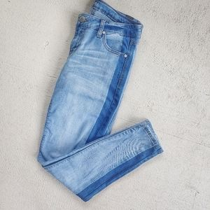 CP two tone color block skinny jeans size 7
